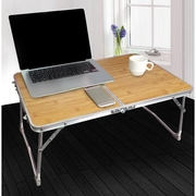 โต๊ะพับอลูมิเนียมแบบพับพกพาสะดวกโต๊ะวางแท๊ปเล็ตโต๊ะญี่ปุ่น60x40ลายไม้สวย