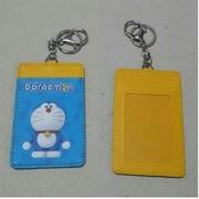 ป้ายชื่อ แผ่นหนา ป้ายใส่บัตร พวงกุญแจ ลาย โดราเอม่อน Doraemon & คิตตี้ Kitty ขนาด 7x11 ซม.