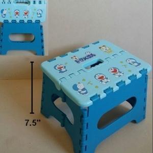 เก้าอี้พับ ตัวเล็ก โดราเอม่อน Doraemon ขนาดตอนกางเป็นเก้าอี้ สูงจากพื้น 7.5 นิ้ว