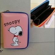 กระเป๋าสตางค์หนัง สำหรับใส่บัตร นามบัตร ลาย สนู๊ปปี้ SNoopy ขนาด 3.5x5 นิ้ว
