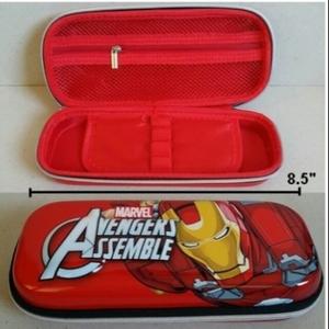 ลิขสิทธิ์แท้ อุปกรณ์ เครื่องเขียน กล่องดินสอซิป รูปด้านหน้า เป็น 3D นูนออกมาคะ ลาย อเวนเจอร์ Avengers ไอร่อนแมน ironman