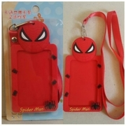 ป้ายชื่อ ป้ายใส่ บัตร มีสายคล้องคอ ลาย สไปเดอร์แมน Spiderman