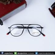 กรอบแว่นสายตา AV 1102 กรอบดำ-ปลายขาแดง