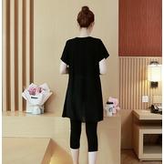 ชุดเสื้อคลุมท้อง+กางเกง 5ส่วน ลายน่ารัก เสื้อยาวปลายทำซ้อนกันแบบดอกไม้ M,L,XL,XXL > Size XL