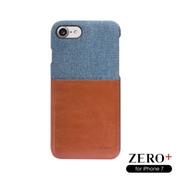 ZERO iPhone + 7 (4.7 นิ้ว) สำหรับวัสดุที่แตกต่างกันในการร่วมกับน้ำหนักเบาเปลือกโทรศัพท์เคลือบเนื้อหนังซีรีส์ (ยีนส์ / น้ำตาล)