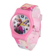 [TAITRA] 【Frozen】 นาฬิกาแอนนา และ เอลซ่า สีชมพู (F4130)
