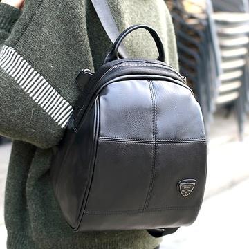 [Abigail] กระเป๋าเป้ตาหมากรุกสไตล์เกาหลี 6415 (สีดำ)