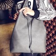 [TAITRA] 【Abigail】 Korean Style Woven Large Bag 6310 (Gray)