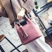 [TAITRA] 【Abigail】 Korean Tassel Bag-In-Bag Multi-Function Bag 6110 (Pink)