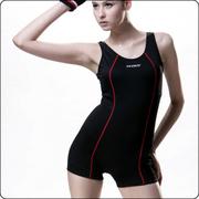 [TAITRA] SARBIS ชุดว่ายน้ำวันพีซ ลายเส้นสีแดงบนพื้นดำ B95247-3L