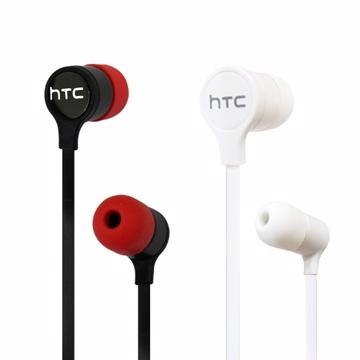 ชุดหูฟังสายแบน HTC สเตอริโอ ขนาด 3.5 มม. (มาพร้อมจุกหูฟังสองชุด)