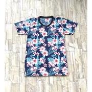 เสื้อยืดคอกลมผ้าเนื้อดีลายดอกสดใส/ไซส์เลดี้อก34