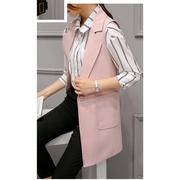 เสื้อสูทโค้ดยาว แขนกุด มีซับในอย่างดี รุ่น 285RX สีชมพู