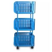 ชั้นตะแกรง 3 ชั้น (สีฟ้า)