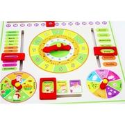 ส่งฟรี เก็บเงินปลายทาง ชุดเรียนรู้ของเล่นไม้ สอนเรื่องเวลา Multifunctional Learning Clock ชุดของเล่นปฏิทินนาฬิกาไม้