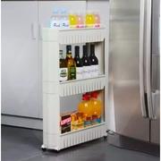 ชั้นล้อเลื่อน ชั้นวางของข้างตู้เย็น ชั้นวางของในที่แคบ ชั้นวางของในห้องครัว