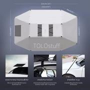 TOLOstuff รุ่มรถ ร่มกันแดดรถยนต์ กันใบไม้/ขี้นก/หยดน้ำ/แดด ลดความร้อน ดีกว่า ผ้าคลุมรถ เก็บง่ายแค่หุบ  #39
