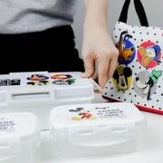 Super Lock ชุดกล่องถนอมอาหาร พร้อมกระเป๋าเก็บความร้อน Disney Mickey Mouse แถมฟรีช้อนส้อม+ตะเกียบ รุ่น 9197-SSS