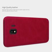 เคสมือถือ Samsung Galaxy J4 รุ่น Qin Leather Case > สีน้ำตาล