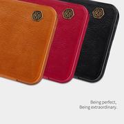 เคสมือถือ Samsung Galaxy J4 รุ่น Qin Leather Case > สีแดง