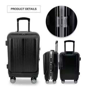 กระเป๋าเดินทางขนาด 20 นิ้ว โครงอลูมิเนียม วัสดุ PC ซิปหน้า Polycarbonate Luggage - Model A1700 (Black/สีดำ)