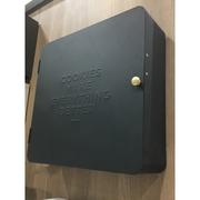 Green House ตู้ยาประจำบ้าน กล่องเหล็กดำติดผนัง ตู้ยาติดผนังยาสามัญประจำบ้าน ขนาด 32x10x32 cm. สีขาว(BLACK)