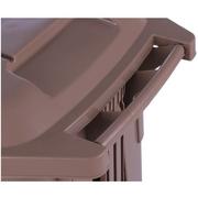 Green House ถังขยะ ถังขยะพลาสติกเหลี่ยมแบบเหยียบ+ล้อ 85 ลิตร (สีเบจ)