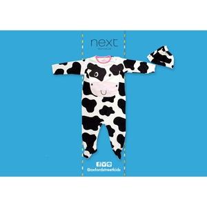 Cow Hat And Sleepsuit  ชุดเบบี้สูทคลุมเท้ายี่ห้อ Next