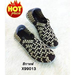 รองเท้ายางยืดเพื่อสุขภาพ รุ่น x99013 กาแฟ