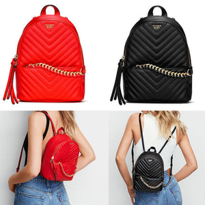 กระเป๋าเป้ Victoria's Secret Pebbled V-Quilt Small City Backpack สะพายหลัง ไซส์มินิ