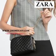 กระเป๋า Zara Quilted Shoulder Bag with chain กระเป๋าสะพายข้าง ลายสามเหลี่ยม ยี่ห้อ Zara แท้ พร้อมส่ง 2016