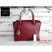 กระเป๋าถือ CHARLES & KEITH LARGE CITY BAG CK2-50780356 ใบใหญ่ หนังเรียบสวย
