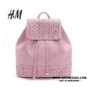 กระเป๋าเป้ H&M หนังนิ่ม ฉลุลาย สวยน่ารัก สีชมพู น่ารัก 2016