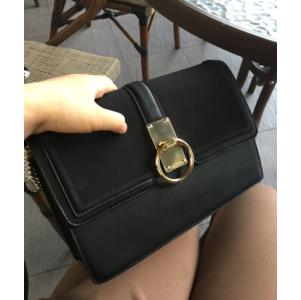 กระเป๋า ALDO คลัช สะพายข้าง ยี่ห้อ ALDO ใหม่ ชนชอป 2017 สีดำทูโทน กระเป๋าสะพาย