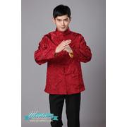 พร้อมเช่า ชุดจีน ชาย เสื้อคอจีน ผ้าแพร สีแดง / ทอง ใส่ได้สองด้าน