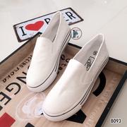 รองเท้าสไตล์ Vans Slip On (สีขาว)