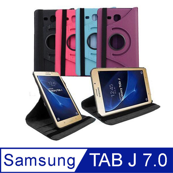 SAMSUNG Galaxy Tab J 7.0 T285 7吋 Rotary Vertical Leather Case [Send Protector]