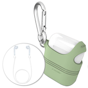 Q shells shoulder shoulder-length design AirPods Apple Bluetooth headset scratch protection sleeve (included Bluetooth headset lanyard) - Fairy Green