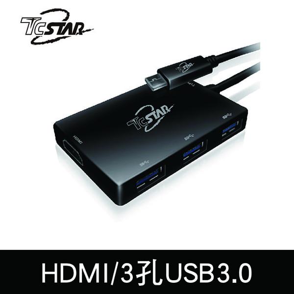 (T.C.STAR)TCSTAR TYPE-C to HDMI/USB3.0HUB Adapter TYC-MF004BK