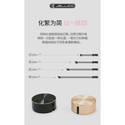 [JELLICO] 0.9M Hyun ซีรี่ส์ Mirco-USB สายส่งการชาร์จ / JEC-TY10-BKM