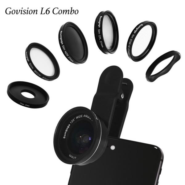 (Bomgogo)Govision L6 combo 8-in-1 wide-angle macro camera lens set (37mm)