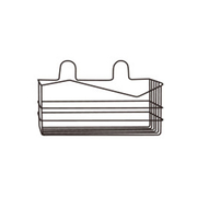 Leisure Style Polka Dot Design Single Bathroom Rack สีดำ
