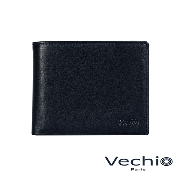 (VECHIO)[VECHIO] Gentleman Business II - Classic Leather 3 Card Holder (Midnight Blue)