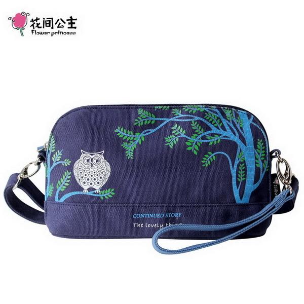 (FlowerPrincess)Flower Princess Owl Shell Messenger Bag