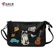 (FlowerPrincess)Flower Princess Mr.cat Serious Cat Side Shoulder Shoulder Bag