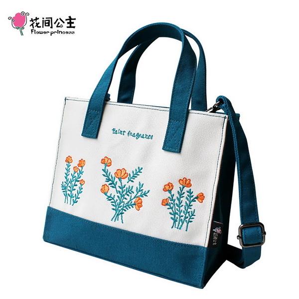 (FlowerPrincess)Splendor Princess Embroidery Embroidered Print Shoulder Bag