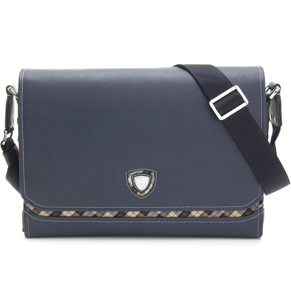 (Kinloch Anderson)[Gold Anderson] Jungman Business Horizontal Large Flip Cover Inclined Bag - Yahee Blue (KA157001NYF)