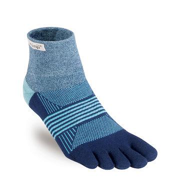 (Injinji)[Injinji] TRAIL female wild running shock absorber suction five-toe socks - curtain night blue