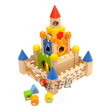[Kid Country] I m Toy Thai Wooden Castle Building Block Multifunction 12 in 1