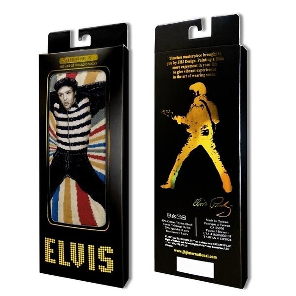 (JHJ DESIGN)[JHJ DESIGN] rock star Elvis prison jail Rock JailHouse Rock Tan stockings / celebrity socks / knit socks